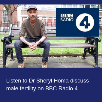 Listen to Dr Sheryl Homa discuss male fertility on BBC Radio 4